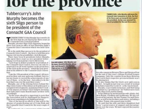 John Murphy elected as President of Connacht GAA